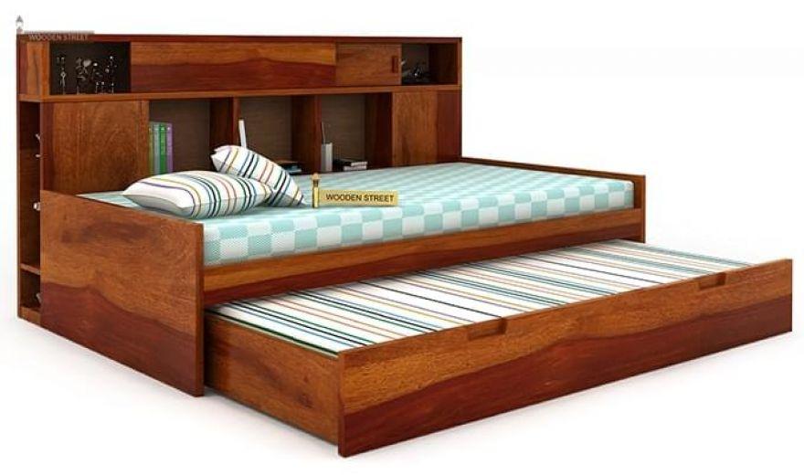 Adeline Sofa Cum Bed (Honey Finish)-6