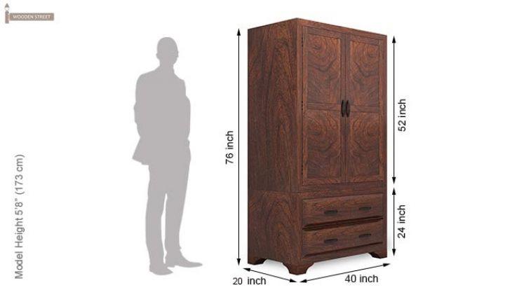 Carlton Multi-Utility Wardrobe (Walnut Finish)-6