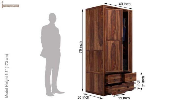 Carvel Multi-Utility Wardrobe (Teak Finish)-6