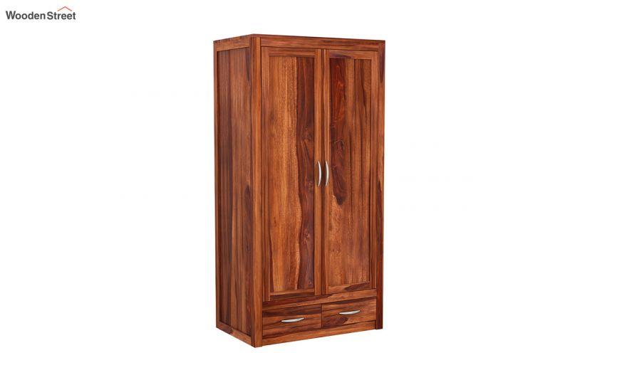 Holden 3 Door Multi Utility Wardrobe (Honey Finish)-4