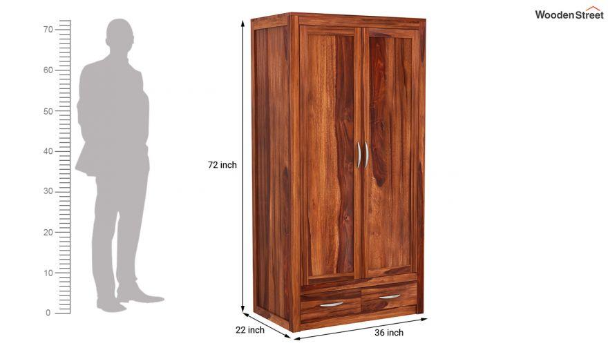 Holden 3 Door Multi Utility Wardrobe (Honey Finish)-9