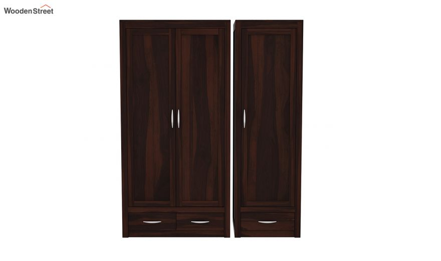 Holden 3 Door Multi Utility Wardrobe (Walnut Finish)-6