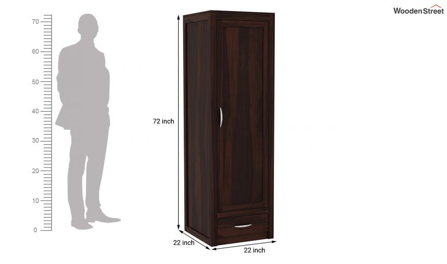 Holden 3 Door Multi Utility Wardrobe (Walnut Finish)-8