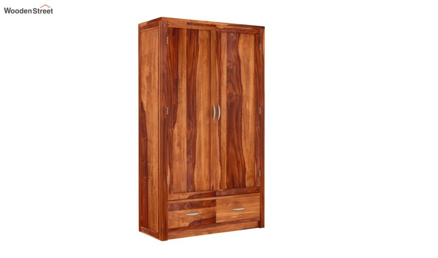 Holden 2 Door Multi Utility Wardrobe (Honey Finish)-2