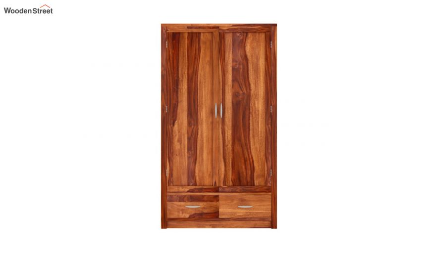 Holden 2 Door Multi Utility Wardrobe (Honey Finish)-3
