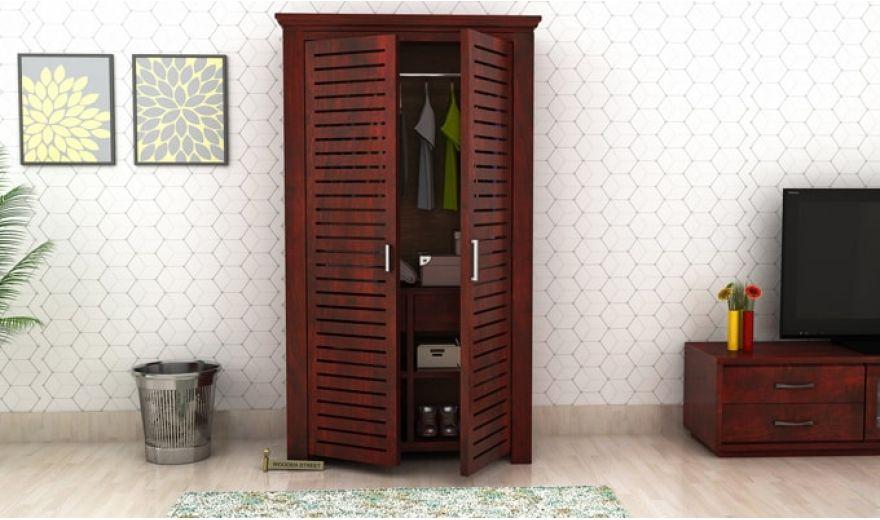 Lynet Multi Utility Wardrobe (Mahogany Finish)-1
