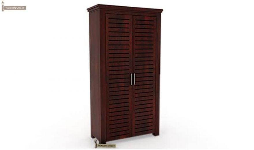 Lynet Multi Utility Wardrobe (Mahogany Finish)-6