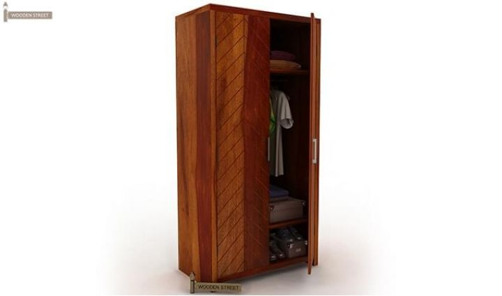 Neeson Multi Utility Wardrobe (Honey Finish)-5