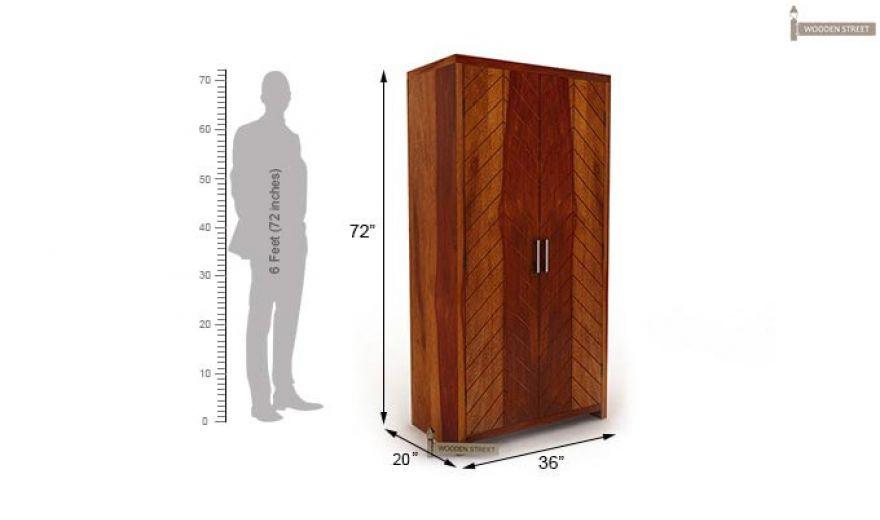Neeson Multi Utility Wardrobe (Honey Finish)-6