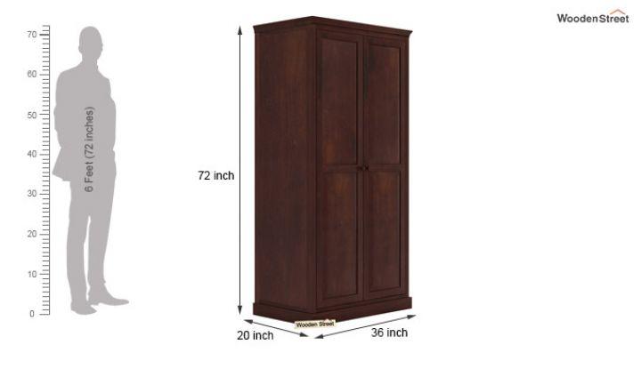 Nixon Multi Utility Wardrobe (Walnut Finish)-6