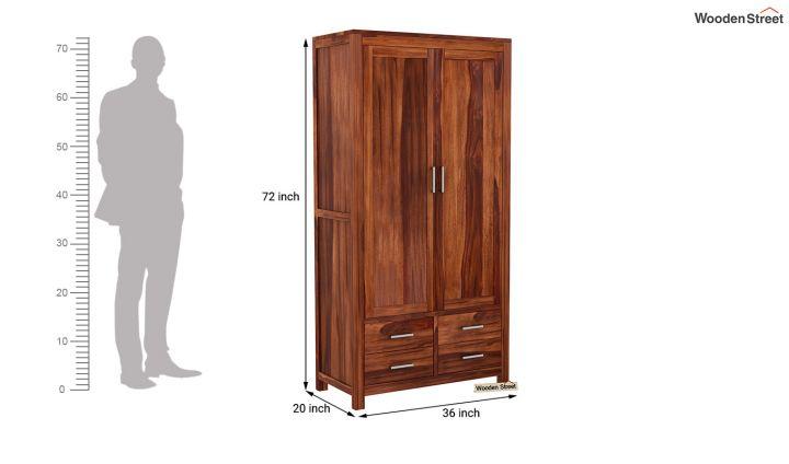 Portus Multi Utility Wardrobe (Honey Finish)-7