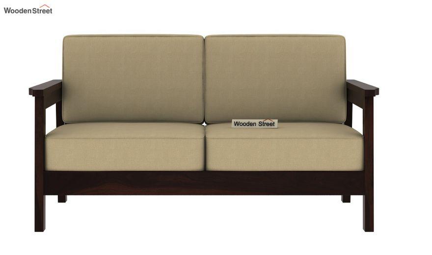 Conan 2 Seater Wooden Sofa (Walnut Finish)-3