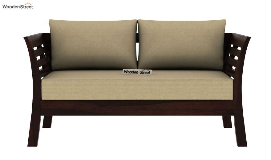 Darwin 2 Seater Wooden Sofa (Walnut Finish)-3
