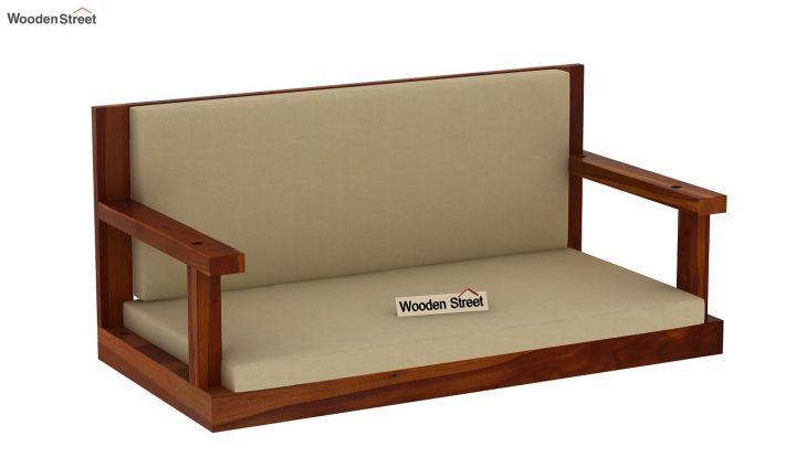 Elite Wooden Swing Chair (Honey Finish)-3