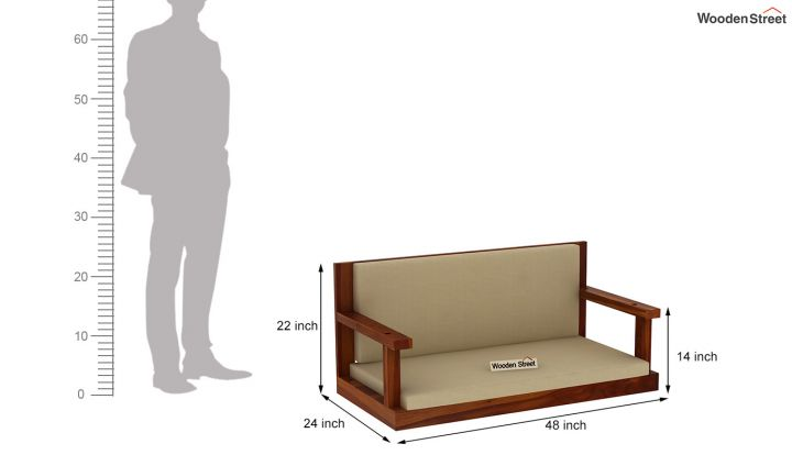 Elite Wooden Swing Chair (Honey Finish)-5