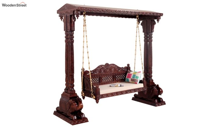 Maharaja Wooden Swing (Walnut Finish)-1